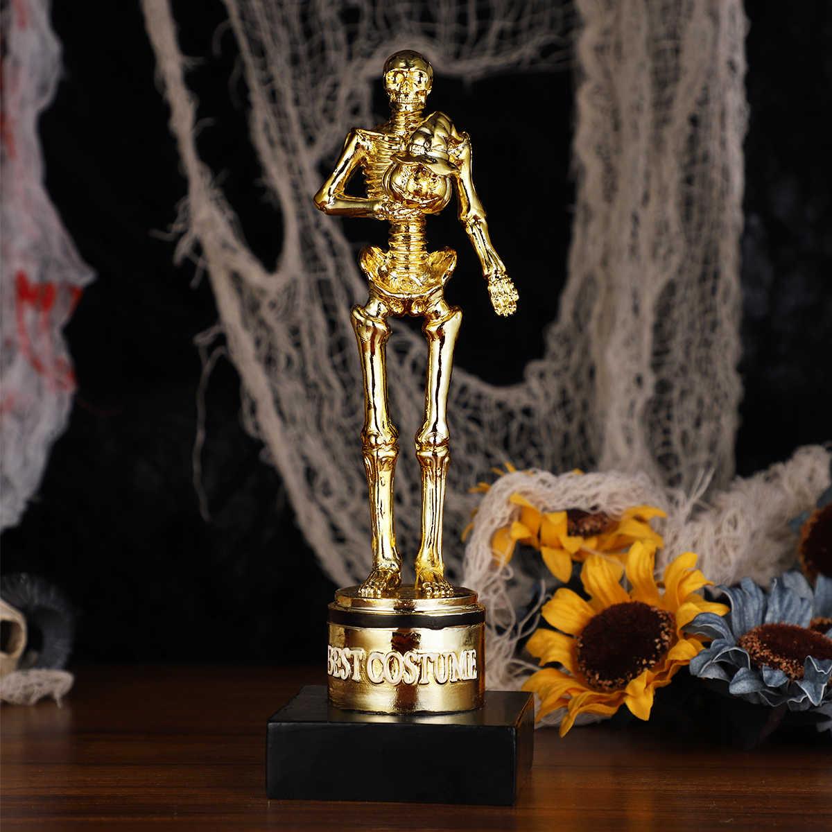1 ud. Halloween mejor disfraz trofeo esqueleto calabaza esencial Golden premios trofeos estatuas