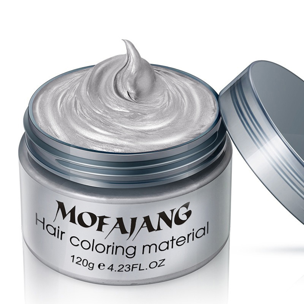 Fashion Hair Coloring Material Styling One-Time Reflective Hair Wax Disposable Hair Dye Mud Easy To Wash Plants Component