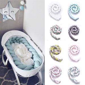 1Pcs 1M/2M/3M Baby Handmade Nodic Knot Newborn Bed Bumper Long Knotted Braid Cushion Baby Bed Bumper Knot Crib Infant Room Decor
