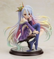 15.5cm NO GAME NO LIFE1/7 Scale anime action figure pvc collection model toy girl birthday Christmas Gift for Children