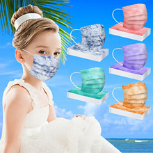 Cover Face-Masks No-Decoration Protec Kids Disposable Safe Dust-Proof 50pcs 3ply Colored-Print
