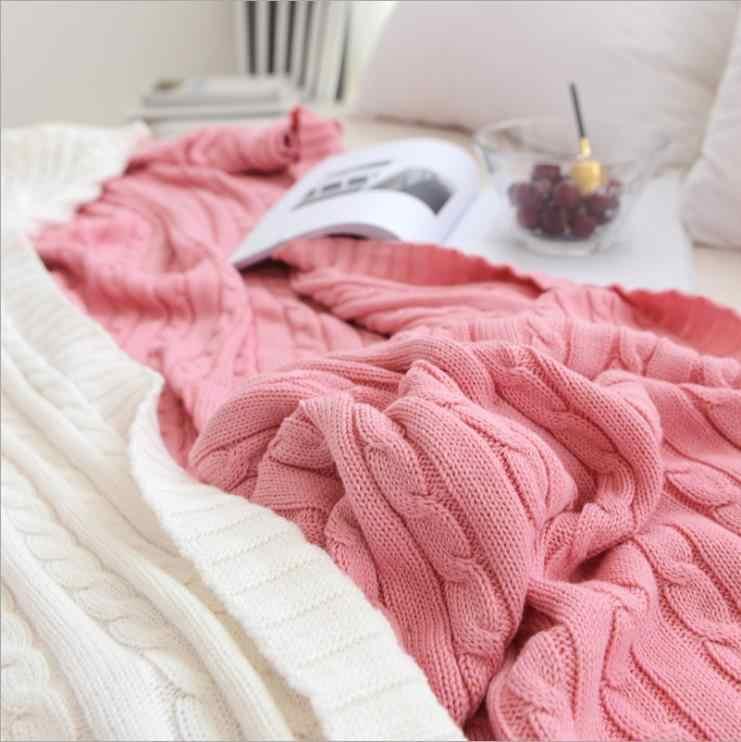 Einfarbig Decken Betten Abdeckung Weiche Decke Bettdecke Bettwäsche Gestrickten Decke Klimaanlage Comfy Schlafen Tagesdecken