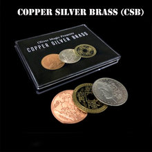Copper Silver Brass (CSB) Magic Tricks Coin Appear Vanish Magia Magician Close Up Illusions Gimmick Props Mentalism Fun Easy(China)