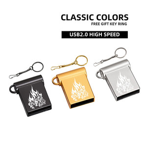 Waterproof Super Mini Metal USB Flash Drive 128GB 64GB 32GB 16GB 8GB 4GB memory stick pendrive u disk with key chain