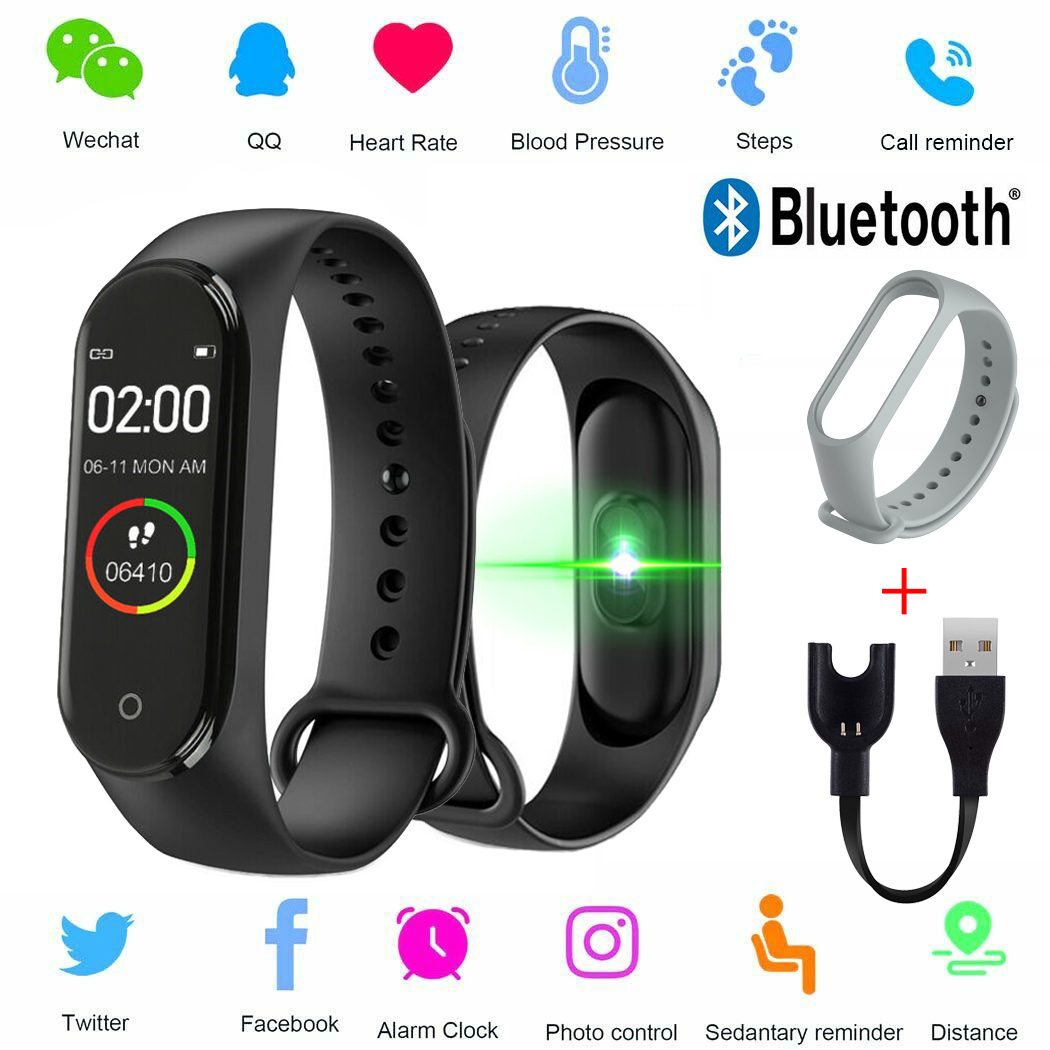 New Color Screen Smart M4 Watch Portable Heart Rate Monitor For Men And Women Monitoring Activity Tracker Health Bracelet