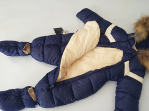 Image 2 - ملابس شتوية للأطفال الأولاد ملابس من الفرو الطبيعي ملابس ثلوج للأطفال الرضع قطعة واحدة مع قلنسوة ملابس هدية