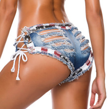 ripped jeans for women Ultra Short Low Rise Hole Shorts Sexy Jeans Fashion Women Club Party Nightclub Rock Jeans Denim Shorts low rise bleach wash skinny jeans