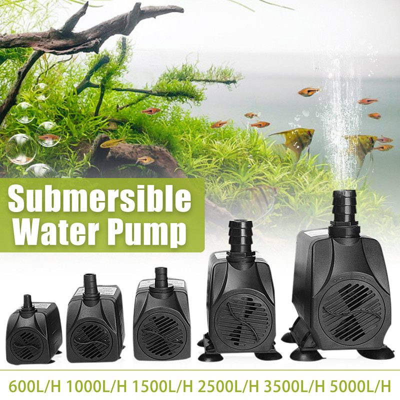 <font><b>Water</b></font> Fountain <font><b>Pump</b></font> Filter 600/1000/1500/2500/3500/5000L/H Ultra-Quiet Submersible Fish Pond Aquarium <font><b>Water</b></font> <font><b>Pump</b></font> Tank Fountain image