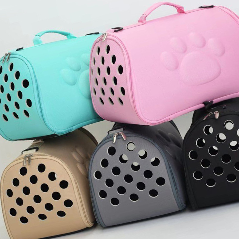 EVA Pure Color Pet Carrier Bag Portable Outdoor Foldable Handbag Cat Dog Travel Pets Bag Breathable Puppy Carrying Shoulder Bags in Carriers Strollers from Home Garden