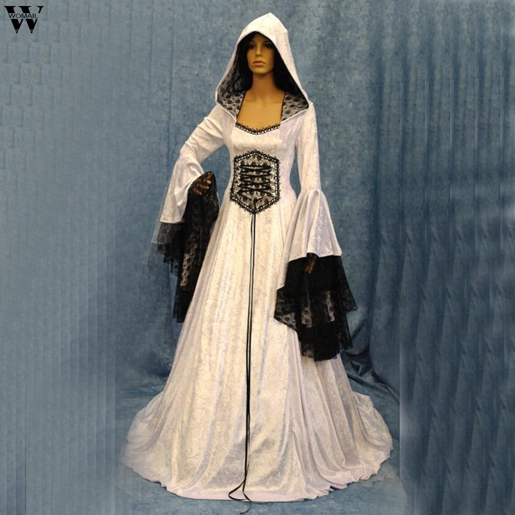 Victorian Gothic Lolita Cosplay Vintage Victorian Black Dress Rock Punk Costume