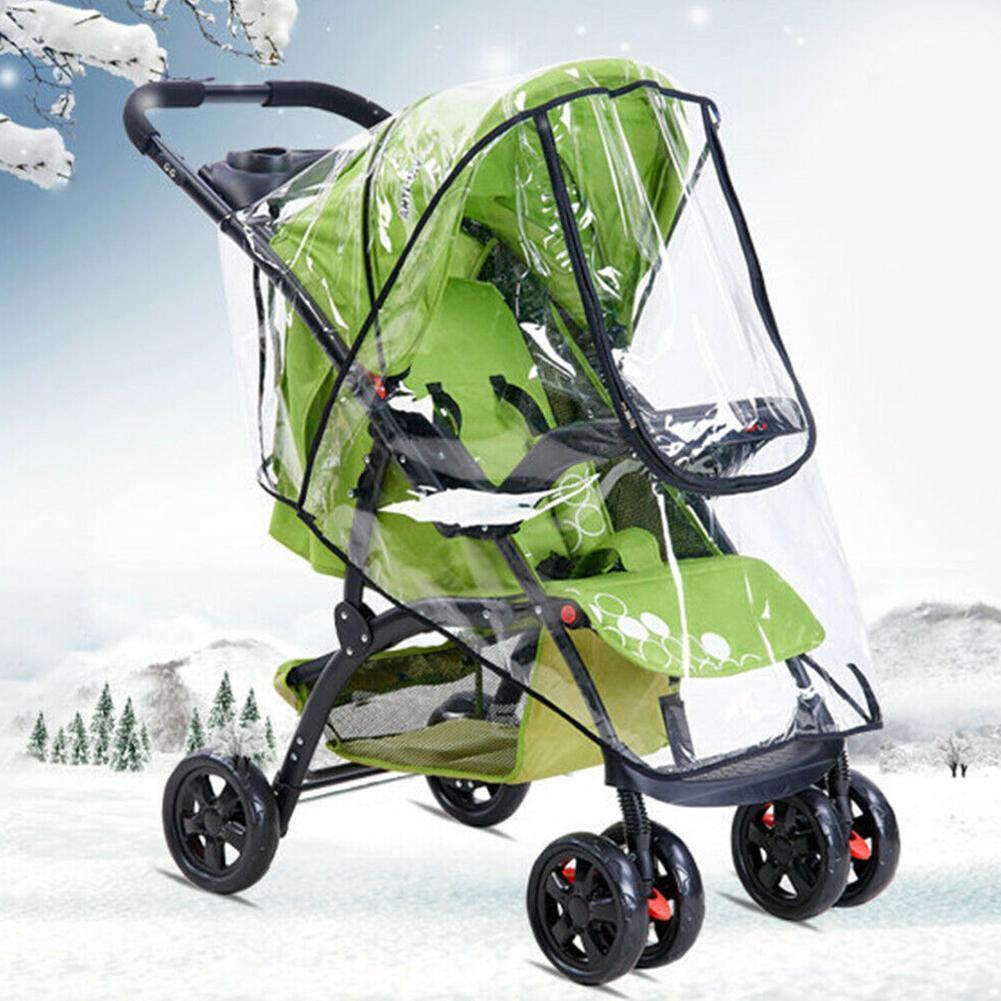 Universal stroller rain cover stroller rain cover windshield windshield umbrella cover stroller car warm raincoat baby wint L6H3
