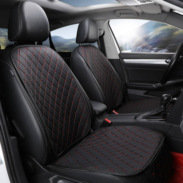 Four season Leather Car Seat Cover Cushion Front Rear Backseat Seat Cover Auto Chair Seat Protector Mat Pad Interior Accessories