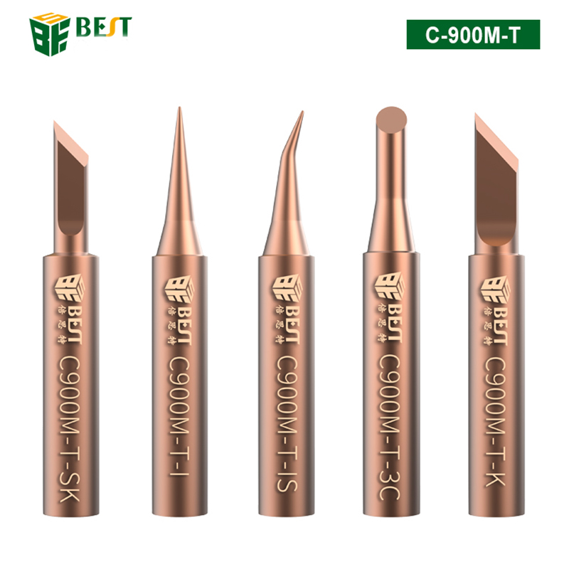 C900M-T 5pcs Pure Copper Soldering Iron Tip Special For Horns Plastic