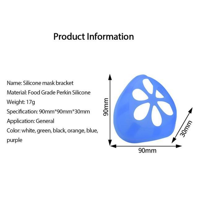 Soft Skin-friendly Mask Holder Bracket 3D Three-dimensional Support Mask Holder Food Grade Silicone Washable Reusable Mask Parts 5