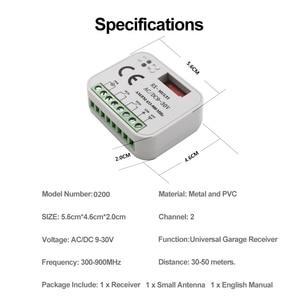 Image 2 - Universal garage gate receiver HORMANN BERNER MARANTEC SOMMER Remote Control 433 MHz 868 MHz Receiver 300 900mhz Multi Frequency