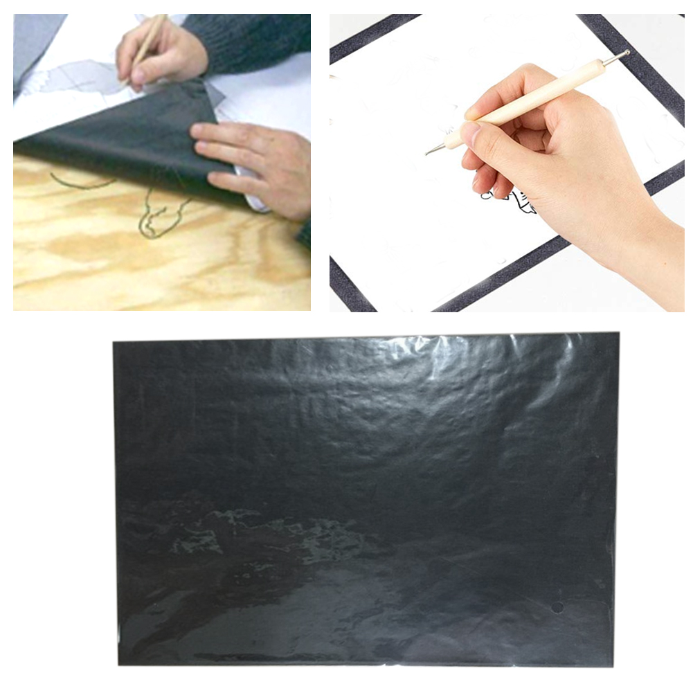 25 Sheets Copy Transfer Tracing Stationery Office Painting Accessories DIY Reusable Graphite Wood Burning Carbon Paper Legible