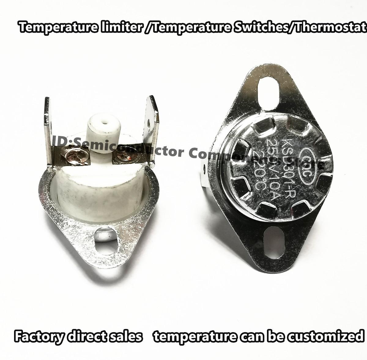 Масляный радиатор для ограничитель температуры KSD301-R-G 250V 16A 150C 160 градусов KSD302 возврат вручную переключатель регулирования температуры
