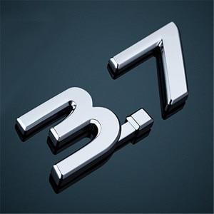 Image 3 - Car Sticker For Infiniti Q50 Q50S IPL Emblem 3.7 Emblem S logo red blue 1Pcs Rear Trunk Emblem Badge Sticker Decals Car Styling