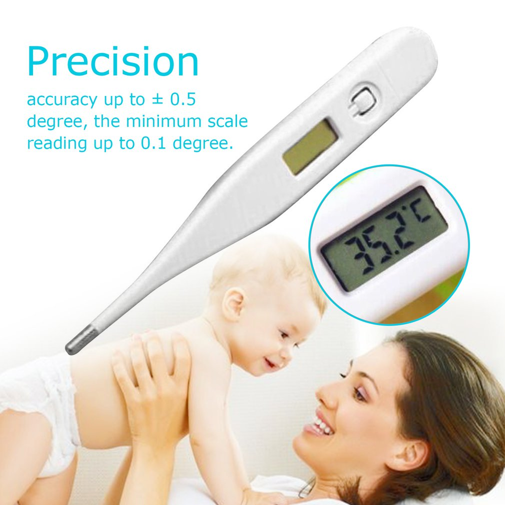 LCD Digital Infrared Thermometer ABS High Precision Waterproof Baby Care Non-contact Forehead Body Temperature Measurement