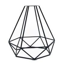 Потолочный светильник, подвесной абажур, Ретро стиль, винтажный Железный магазин, аксессуары для самостоятельной сборки, кулон в форме клетки, декоративный дом