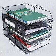 Metal Magazine Holder File Rack Sorter Organizer Home Office Desktop Storage Display Stand Document Letter Book Storage Holder