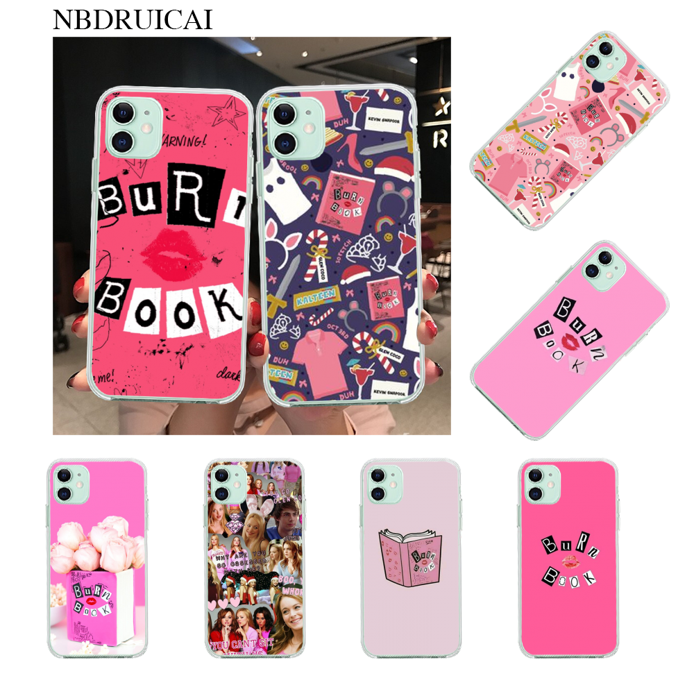 NBDRUICAI Buku Mean Girls Ciuman Coque Shell Ponsel Case Penutup Shell UNTUK iPhone 11 Pro XS MAX 8 7 6 6S Plus X 5S SE XR Case