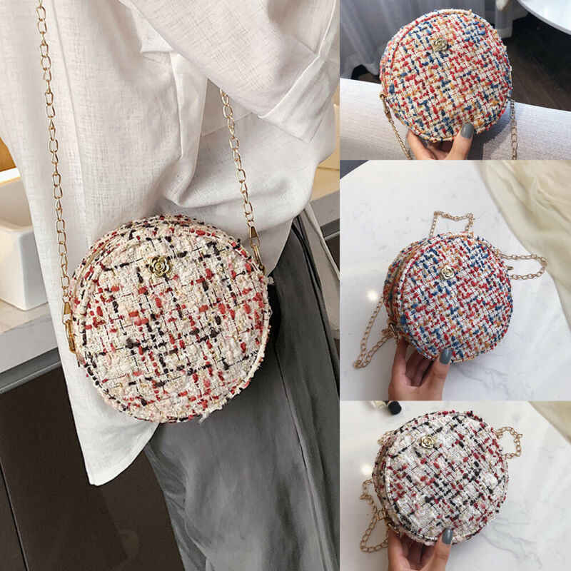 2019 Nieuwste Hot Fashion Vrouwen Circular Handtas Schoudertas Messenger Panelled Ronde Bag Satchel Purse Tote