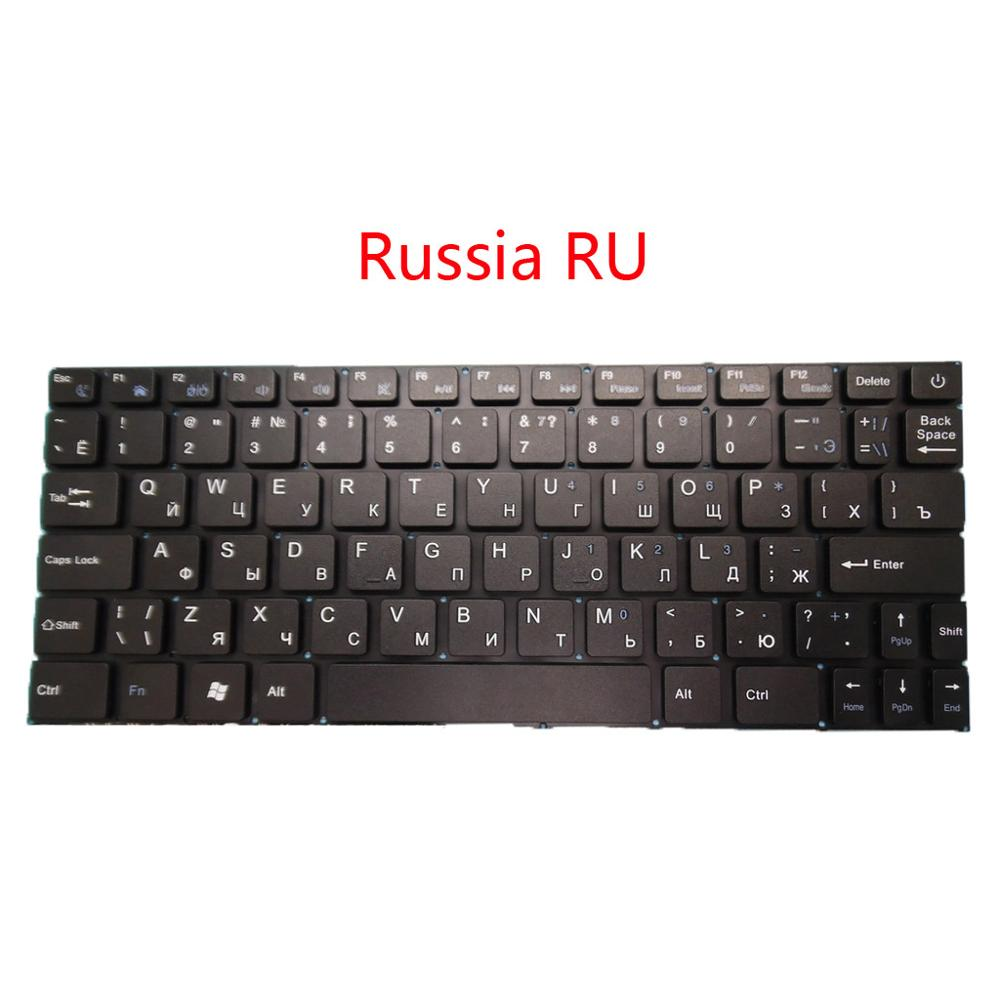 Laptop Keyboard For Irbis NB11 NB34 Russia RU English US Black Without Frame New and Original-in Keyboards from Computer & Office    1