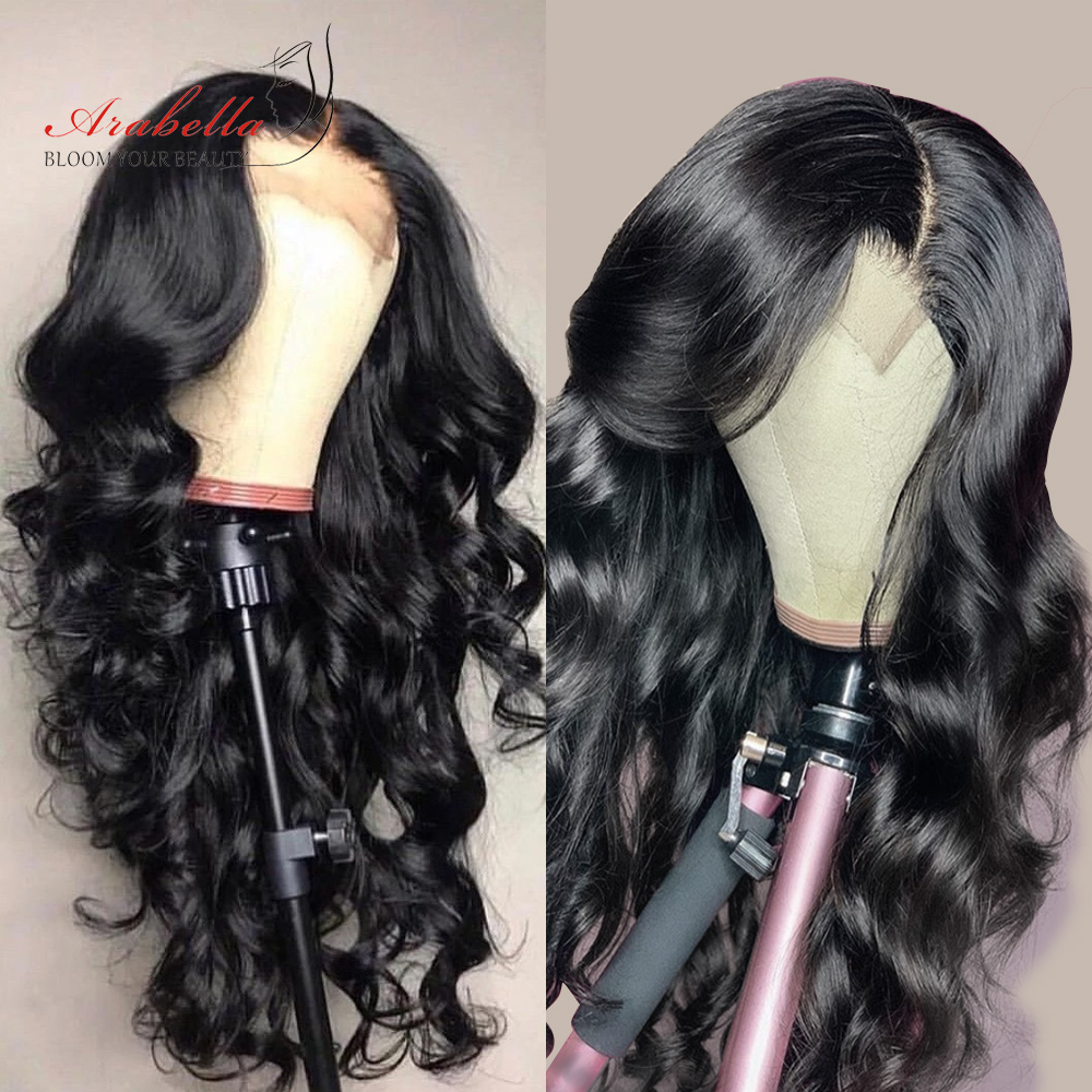 Cheap Closure Wig Peruvian Body Wave 100% Human Hair Wigs With Baby Hair 4X4 Lace Wig 180% Density Pre Plucked Lace Front Wig