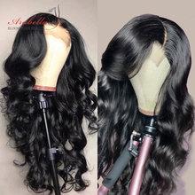 Perruque Lace Wig 100% naturelle péruvienne – Arabella, cheveux Remy, Body Wave, pre-plucked, avec Baby Hair, 4x4, 180% de densité