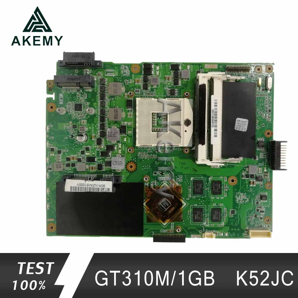 Akemy K52JC Laptop Motherboard For ASUS K52JC K52JT K52JR Test Original Mainboard GT310M/1GB