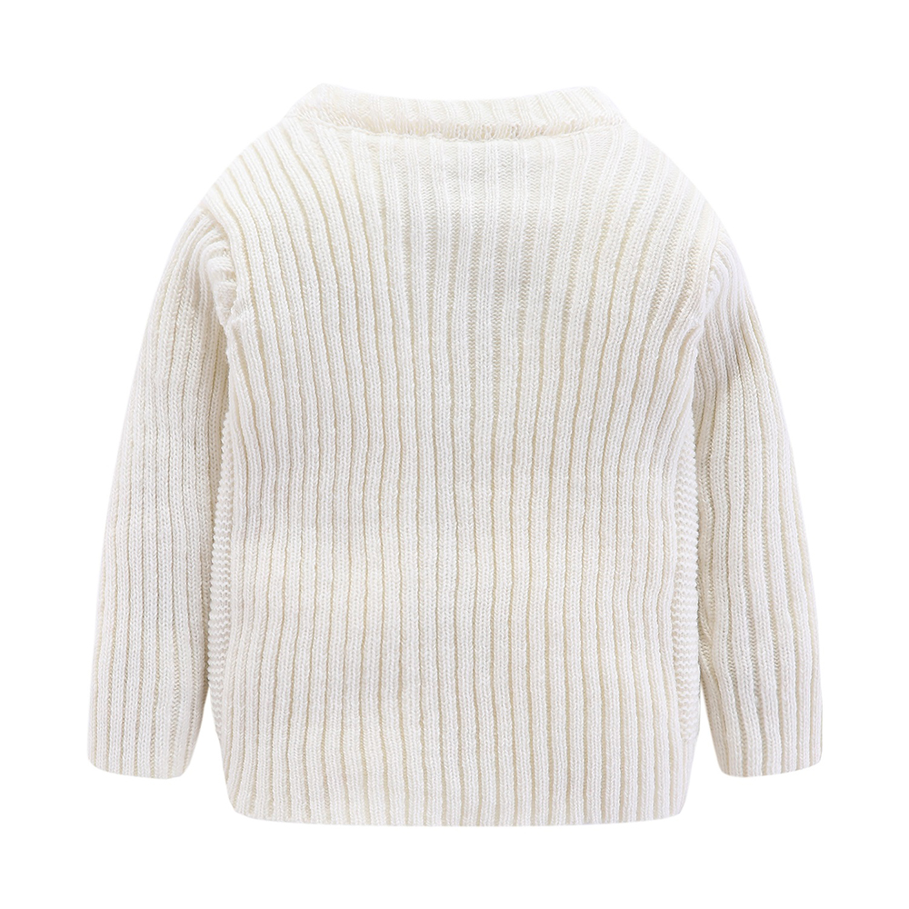 Mudkingdom Boys Sweater Pullover Solid Autumn and Winter Cotton Knitted Sweater Girls Tops Kids Sweaters 6
