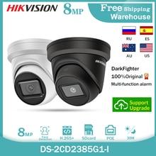 Hikvision câmera ip DS-2CD2385G1-I 8mp onvif mini poe branco e preto cctv darkfighter câmera de vigilância ao ar livre vídeo dome