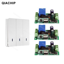QIACHIP 433Mhz Universal 1 CH RF Remote Control Switch AC 110V 220V Wireless Receiver Module + Wall Panel Transmitter 433 mhz(China)