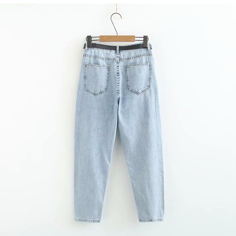 Korean-style CHIC Students Wide-Leg Jeans Women's Foreign Trade Original Garment Summer New Style INS Super Fire Pants Loose Har