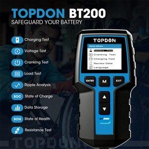 Image 2 - TOPDON BT200 12V Tester per batteria per auto analizzatore di Tester per batteria diagnostica automobilistica digitale strumento per Scanner di ricarica a gomito per veicoli