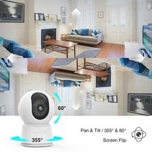 Laxihub Smart Camera PTZ 1080P IP Webcam Night Vision Baby Monitor Indoor Mini Surveillance WIFI Wireless Webcam Home Camera