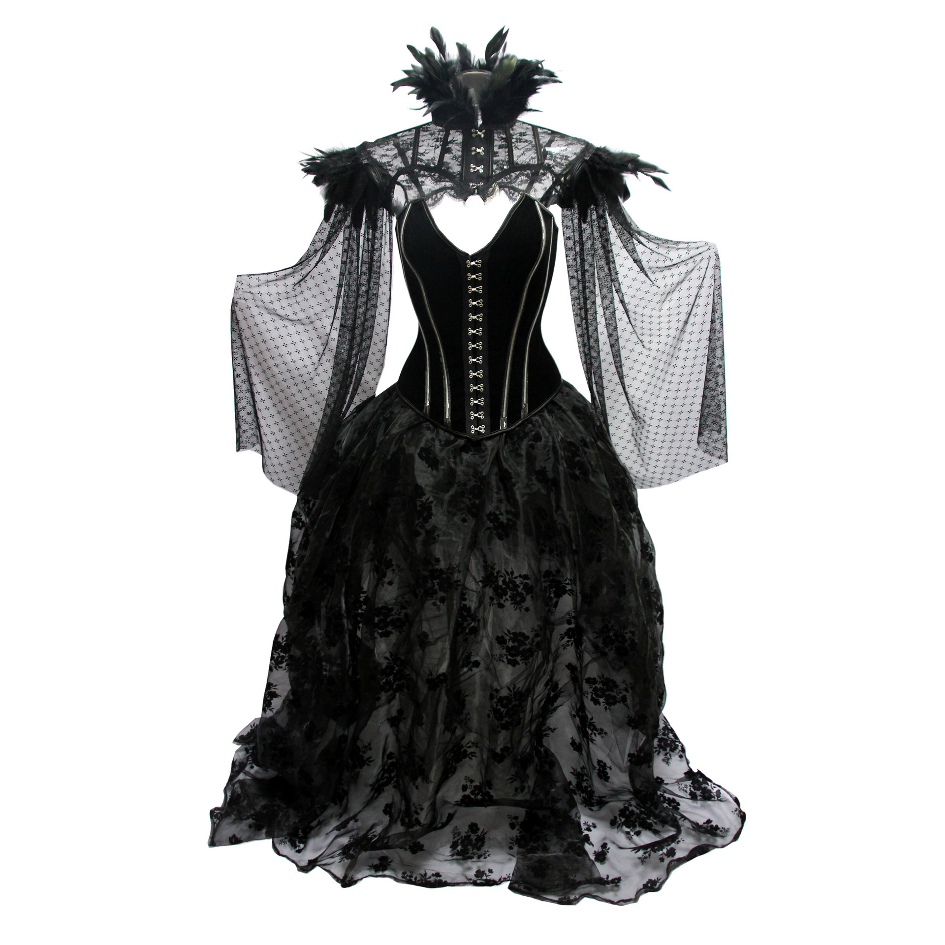 Floral Pattern Halloween Victorian Corset Dress Gothic Lolitacostume Steampunk Korsett For Women Sexy Vintage Burlesque Costume