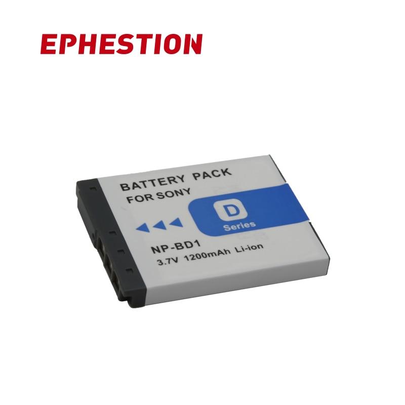 EPHESTION NP-BD1 NP-FD1 NP BD1 FD1 Camera Battery For SONY DSC T300 TX1 T900 T700 T500 T200 T77 T900 T90 Batteries For Sony