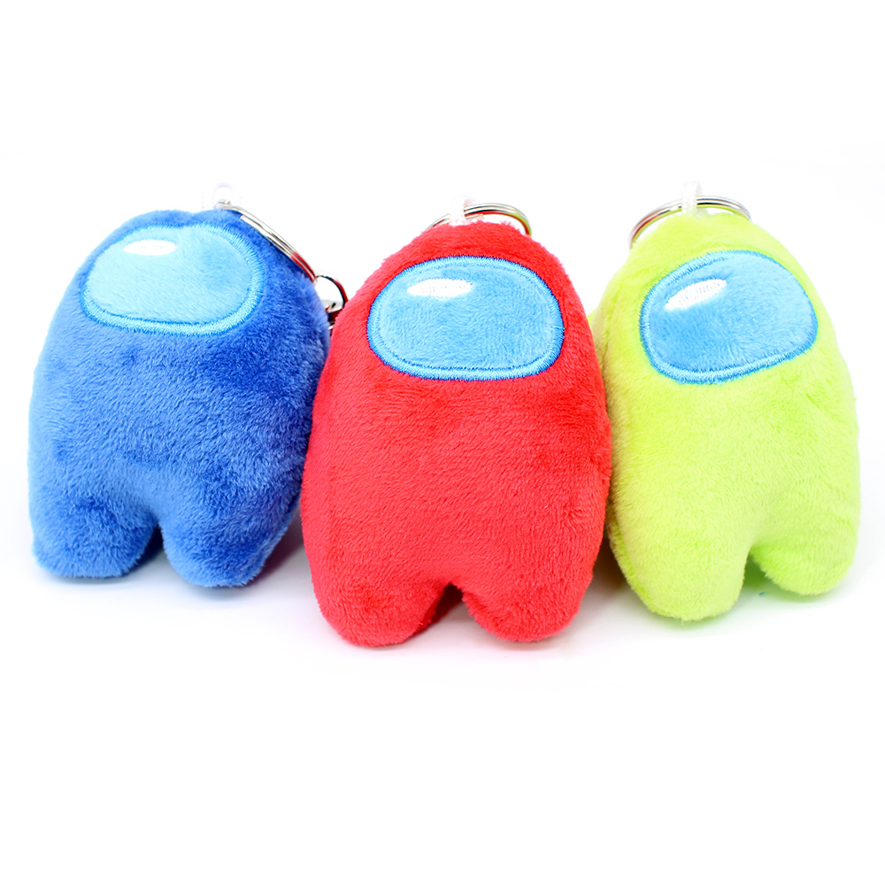 Color : Red Shaboo Prints 8cm Anime Game Among Us Keychain Trust No One AmongUs Plush Toys Stuffed Doll Bag Key Chain Pendant Xmas Gifts Red Small Plushie