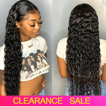 180% Curly Lace Front Human Hair Wigs Transparent Lace Frontal Wigs Deep Water Wave Wig T PART Wet And Wavy Brazilian Hair Wigs