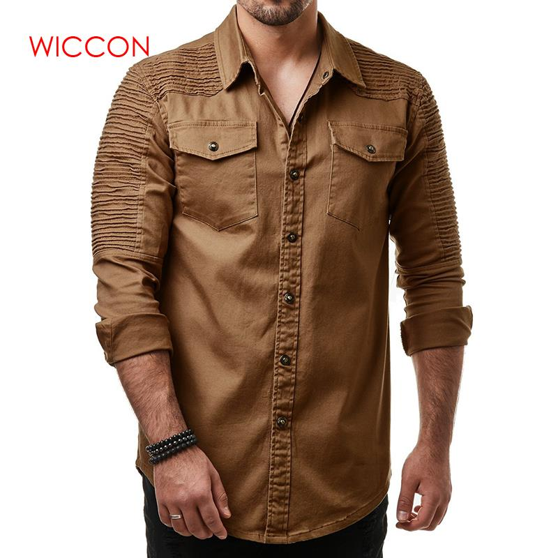 Fashion Men Shirts Men's Casual Slim Fit Button Daily Shirt With Pocket Long Sleeve Tops New Arrivals Men's Shirt Spring Wear