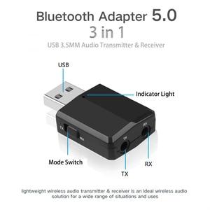 Image 4 - KEBIDU 3 で 1 Bluetooth トランスミッタレシーバワイヤレス Bluetooth 5.0 アダプタミニ 3.5 ミリメートル AUX ステレオのためのための車の音楽テレビ最新