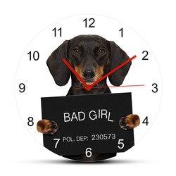 Настенные часы для собак, в виде таксы, под заказ, в виде собачьего имени, в виде щенка