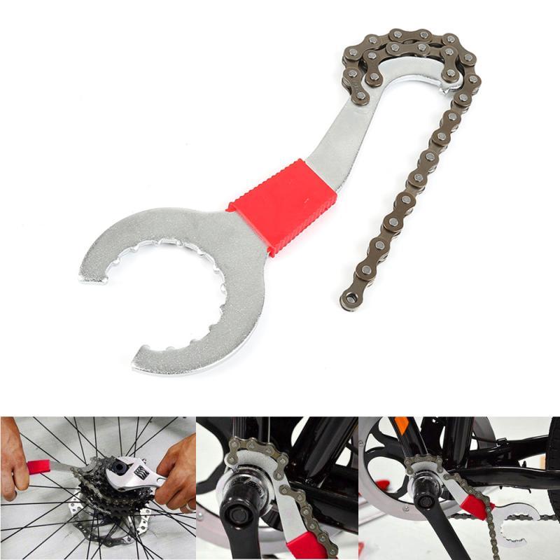 3 ב 1 אופני שרשרת שוט תחתון סוגר Freewheel ברגים תכליתי לתיקון Remover כלים אופני אביזרי שרשרת כלים