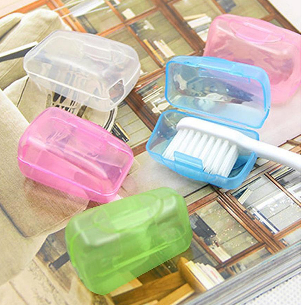 5pcs Portable Toothbrushes Head Cover Holder Travel Hiking Camping Brush Cap Case