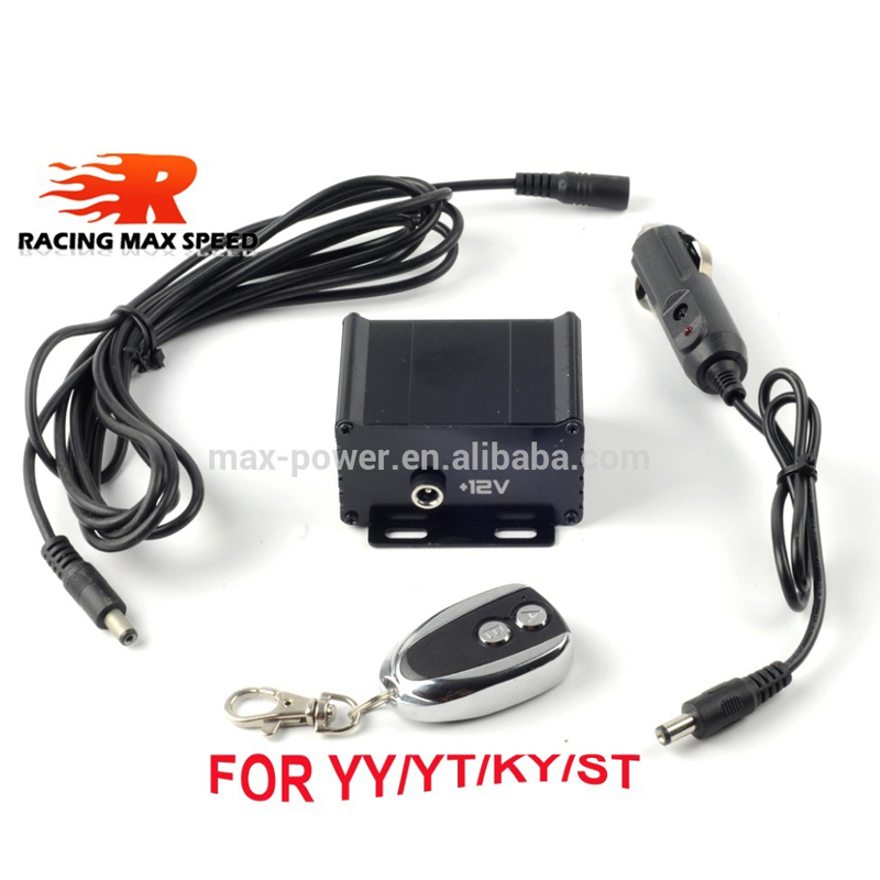 Universal 12V Electronic Remote Control Switch+Control Box For Electric Exhaust Cut Out Kit Car Modified Accessories