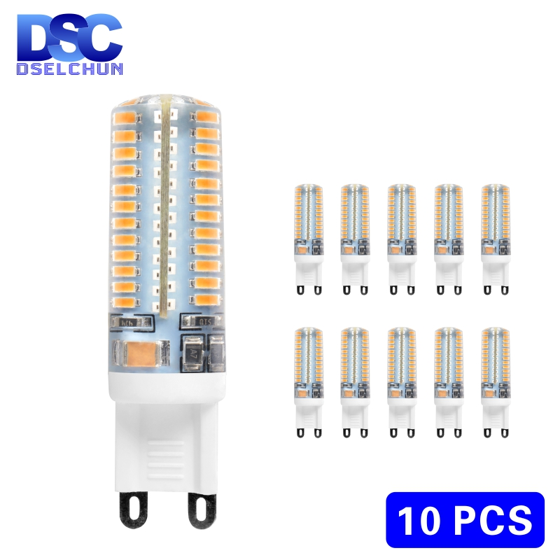 10pcs/lot G9 LED 3W 4W 5W 6W 220V-240V LED G9 Lamp Led Bulb SMD 2835 3014 LED G9 Light Replace 30W/60W Halogen Lamp Light