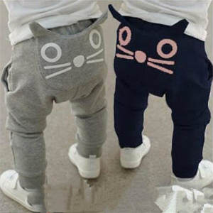 Trousers Baby Clothing Harem-Pants Spring Autumn Girls Boys Kids Cotton Fashion Owl And