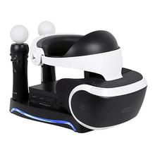 цена на 4 in 1 PS Move VR Charging Storage Stand For PS4 PS Move VR Charging Storage Stand PSVR Headset Bracket For PS VR Move Showcase